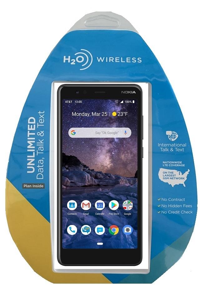 H2O Nokia 3.1a w/ $40 Plan + extra $60 spiff