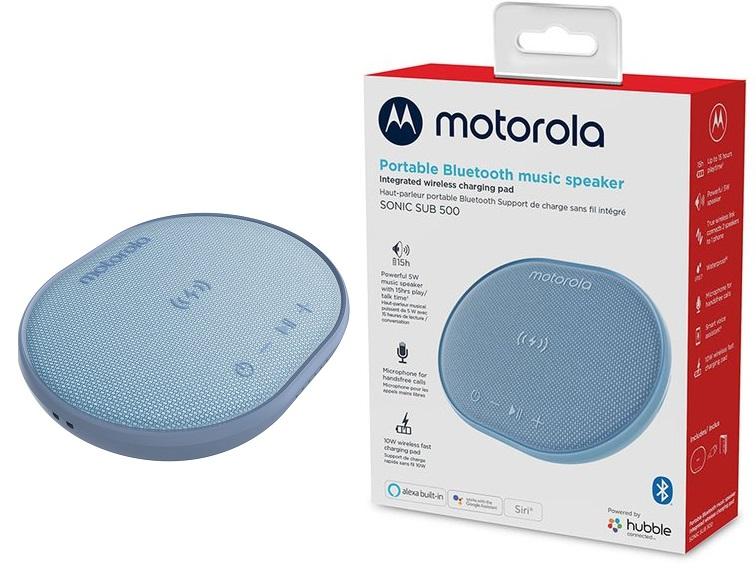 Motorola Speaker Sonic 500 + 10W Wireless Charging Pad - Blue