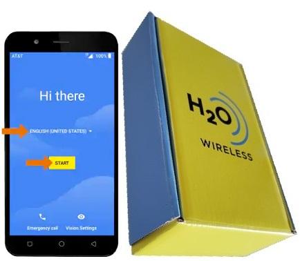Axia QS5509A 16GB with H2O SIM Card