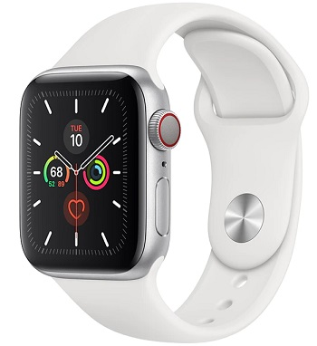 Apple Watch Series 5 GPS + Cellular (40mm) Silver/ White  A Stock