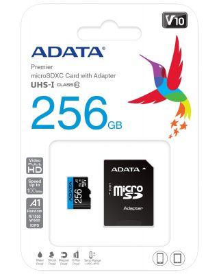 Adata MicroSD 256GB Class 10 - New