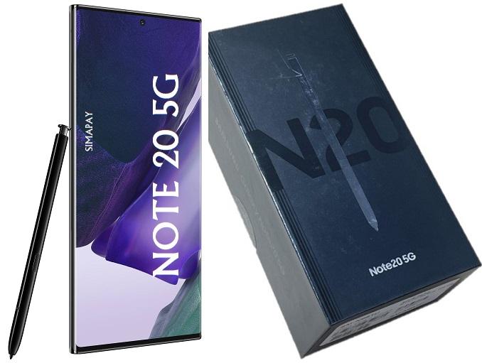 SAM N981u1 NOTE 20 5G 128GB BLACK CPO
