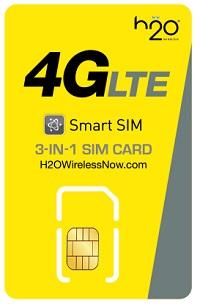 H2O Smart Triple SIM Card