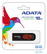 Adata 16GB USB Stick C008 Black - New
