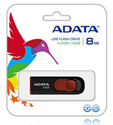 Adata 8GB USB Stick C008 Black - New