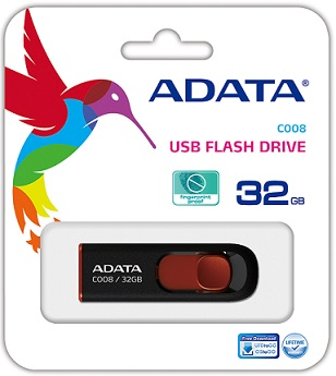 Adata 32GB USB Stick C008 Black  - New