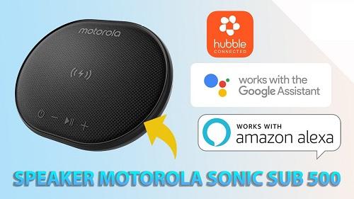 Motorola Speaker Sonic 500 + 10W Wireless Charging Pad - Black