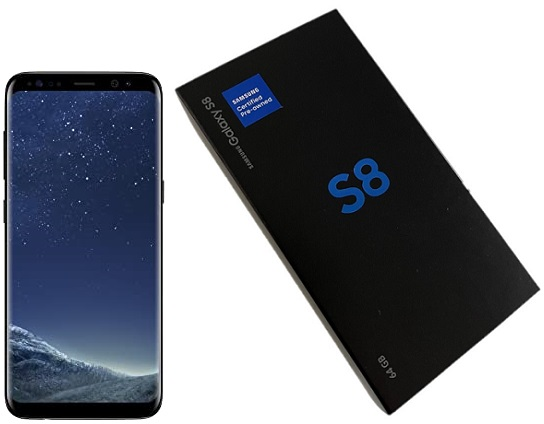 Samsung S8 G950u 64GB Black A Stock