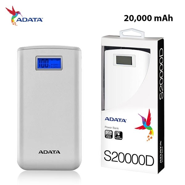 ADATA S20000D Powerbank White New