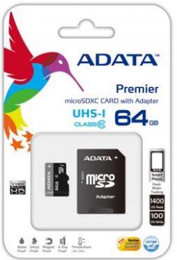 Adata MicroSD 64GB Class 10 - New