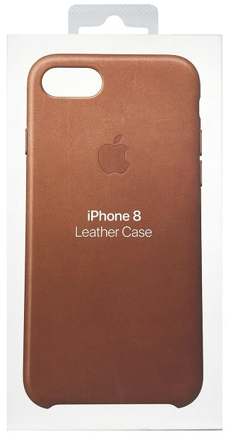 OEM iPhone 7/8 Leather Case - Saddle Brown