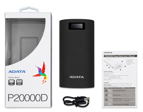 Adata P20000D Portable Power Bank Black - New