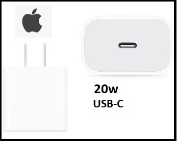 Apple A2305 20W OEM USB-C Power Adapter - Bulk