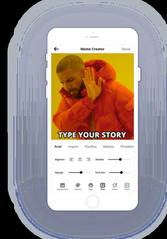 Meme Creator Mobile App