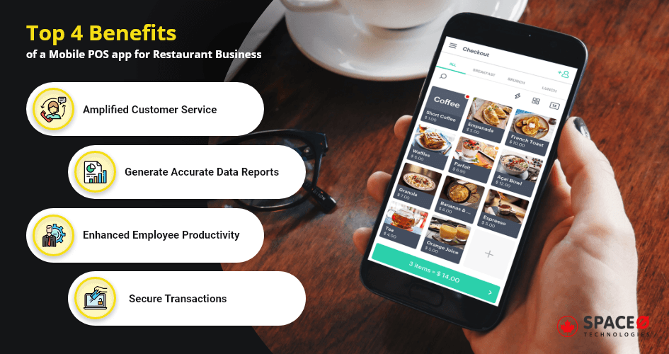 Top 4 Benefits Of a Mobile POS App for Restaurant Business