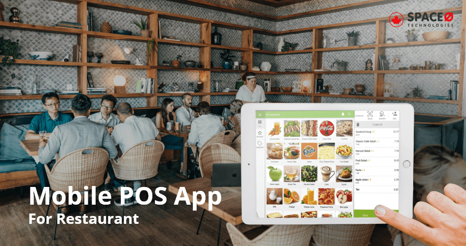 mobile POS app for restaurant