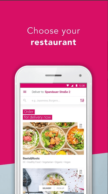 create a food delivery app