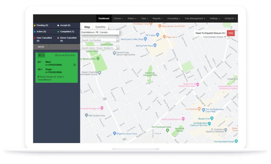 Uber for X Desktop Panel App