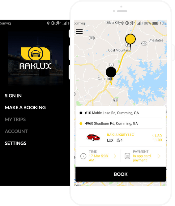 Raklux Taxi App