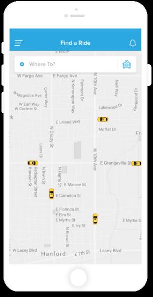 Find Ride App Screen