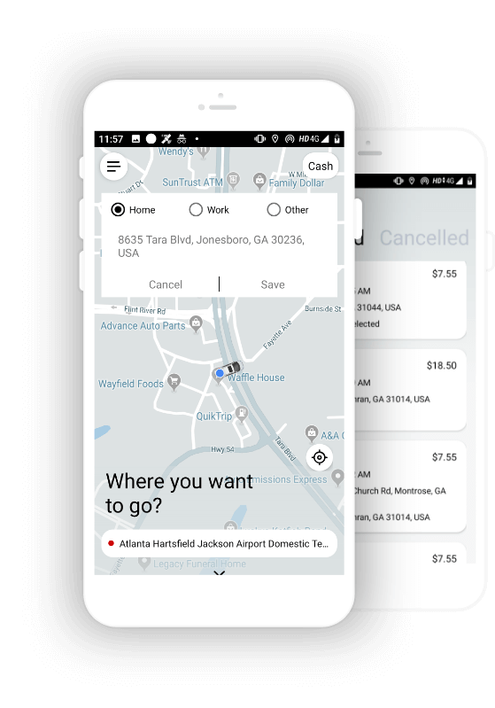 Ride Sharing App USA