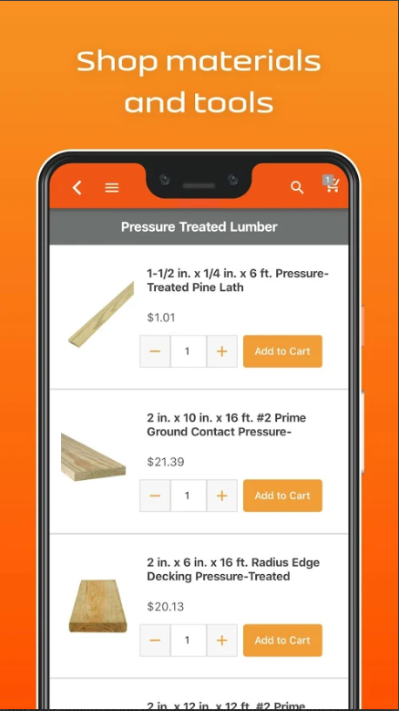 construction material delivery app