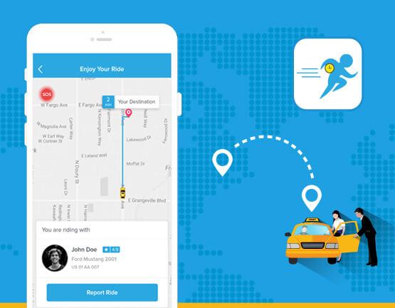 Taxi sharing app