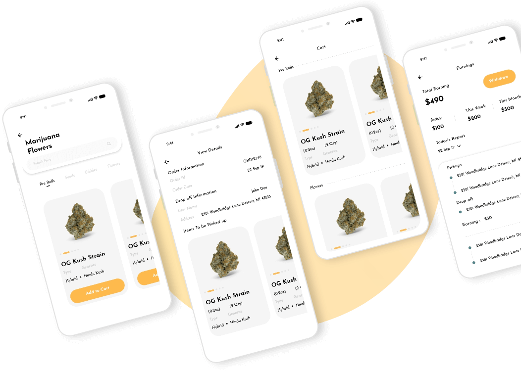 On demand marijuana app development