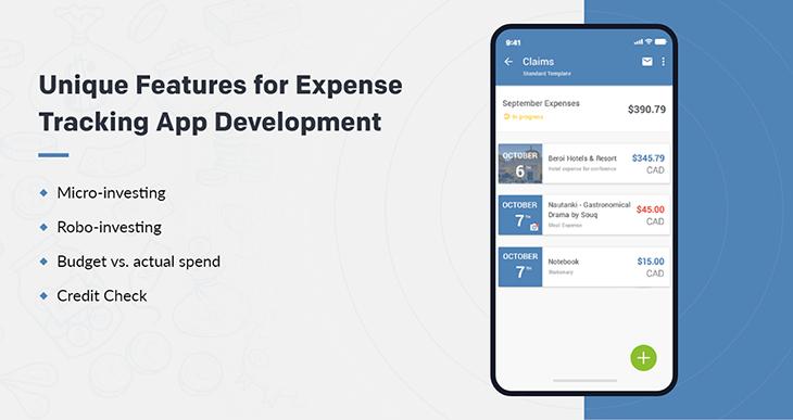 unique features of expense tracker app