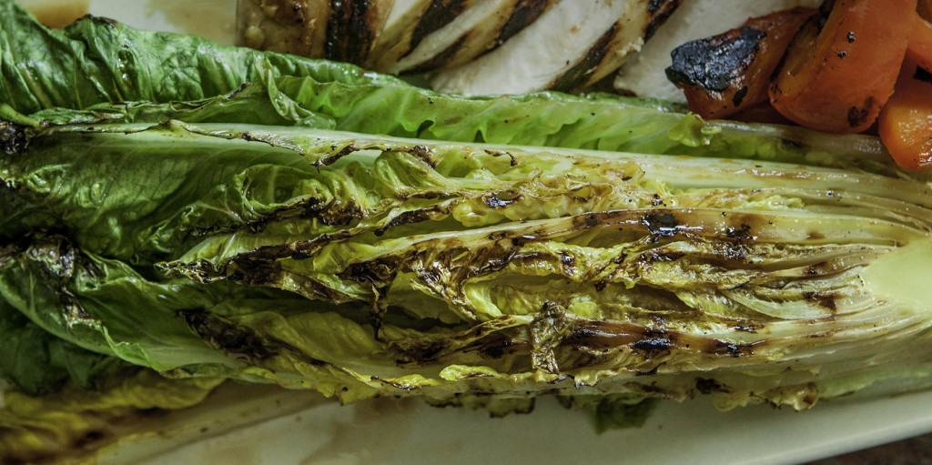Grilled Teriyaki Chicken and Romaine Salad