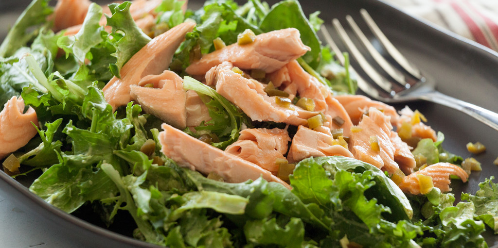 Avocado Salmon Salad with Kale