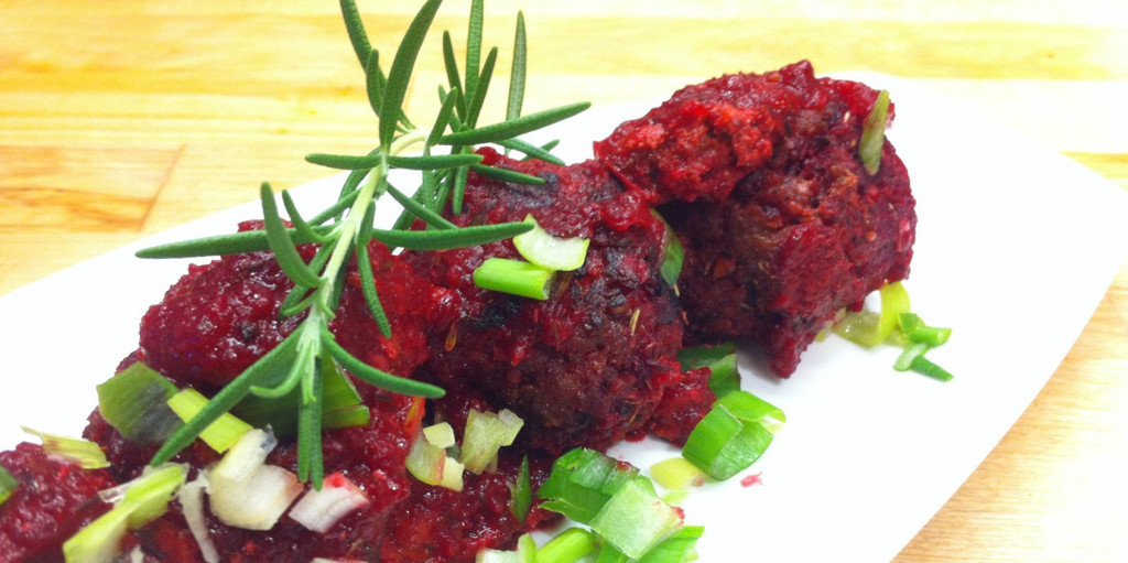 Beet and Beef Balls