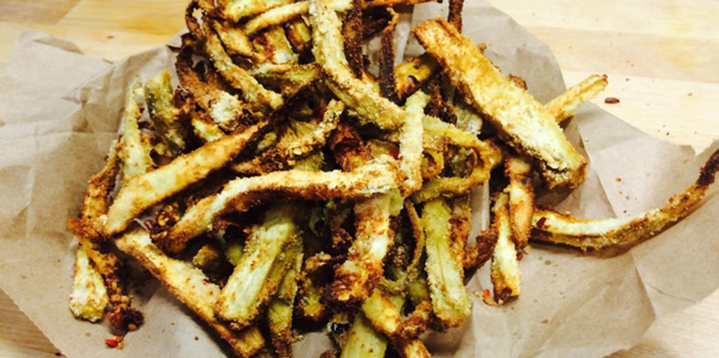 Coconut Chili Eggplant Fries