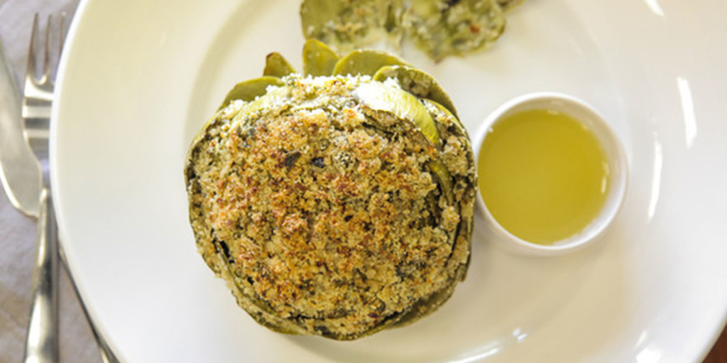 Savory Stuffed Artichokes with Lemon Garlic
