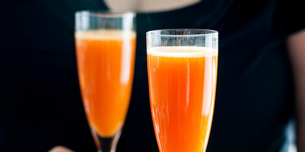 Cardamom-Carrot Sparkling Cocktails