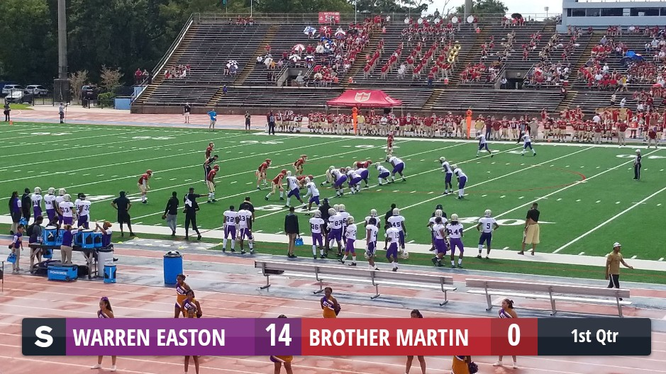 The Warren Easton Eagles Defeat The Brother Martin Crusaders 48 To