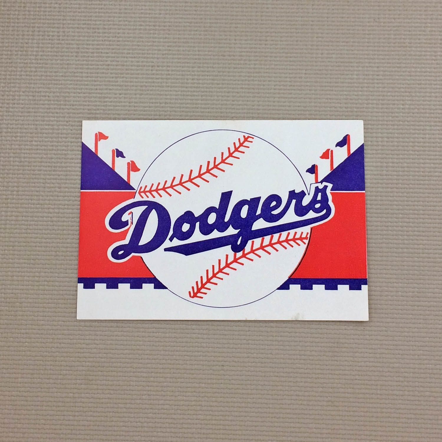1940s Vintage Brooklyn Dodgers Decal