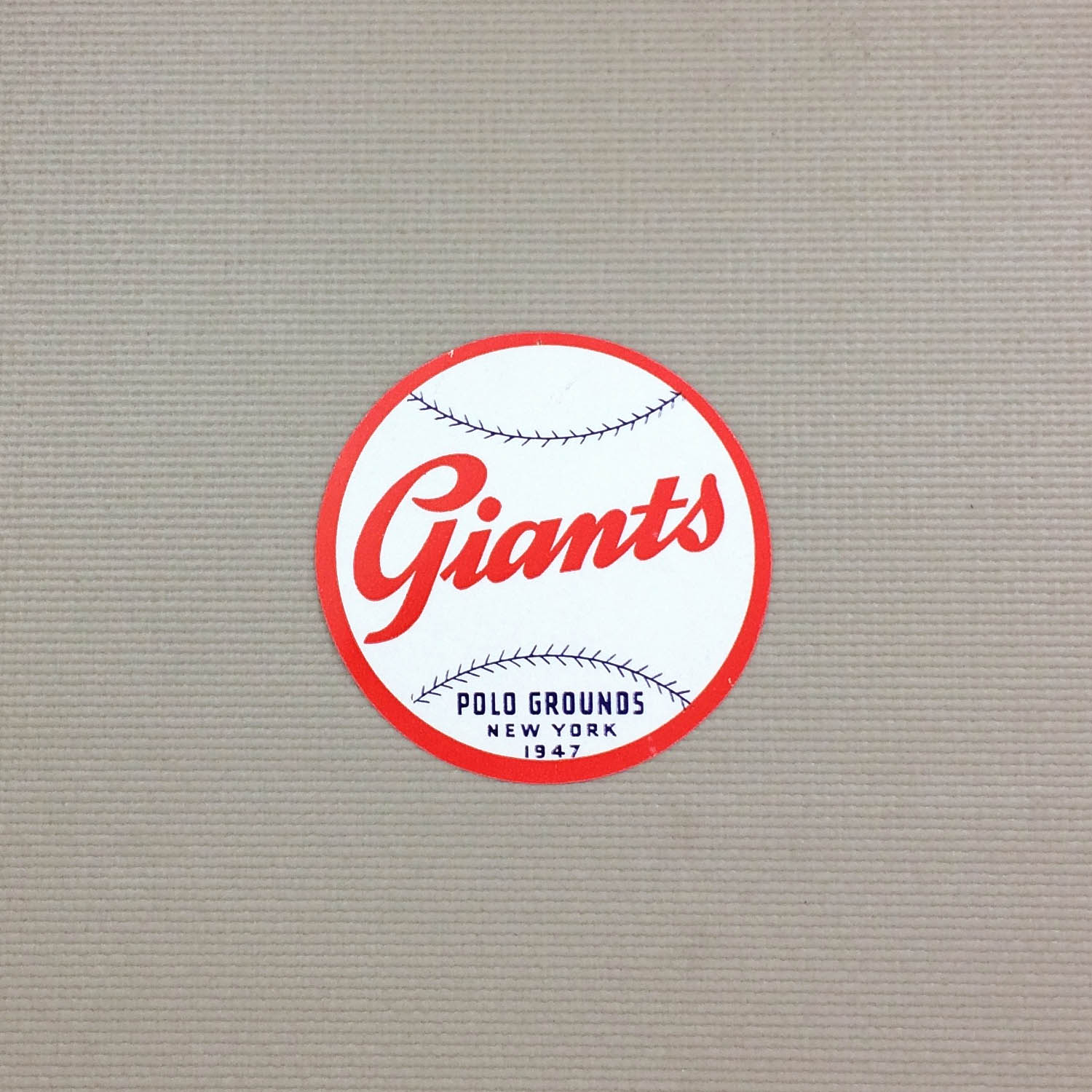 1940s Vintage New York Giants Decal