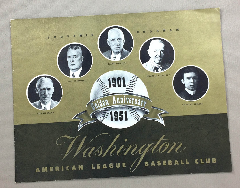 Washington Senators Golden Anniversary Guide