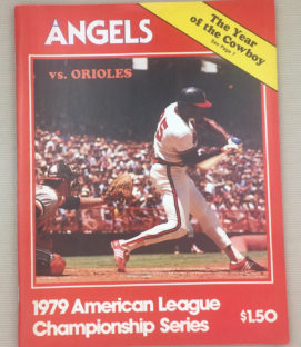1979 ALCS Angels Program