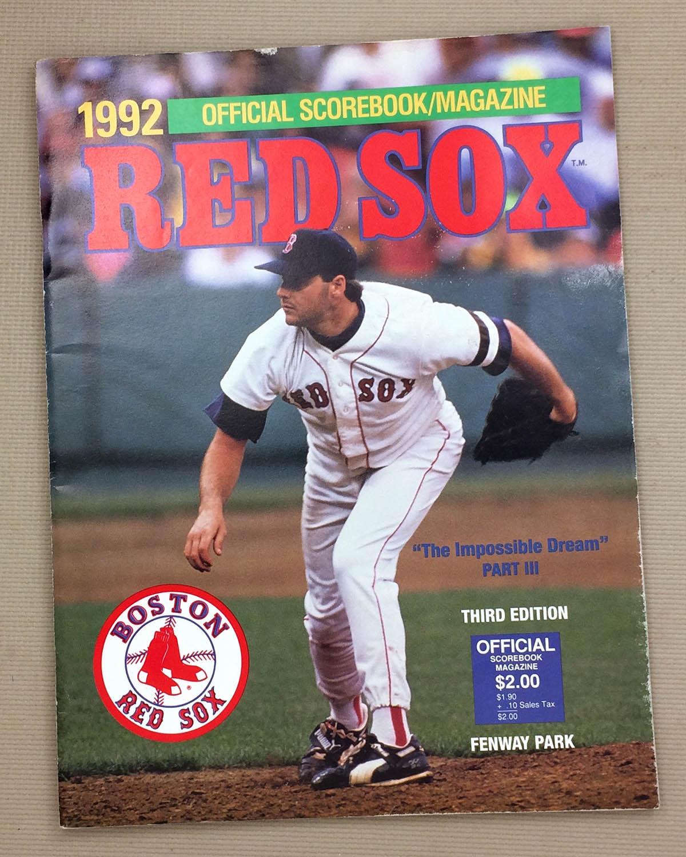 Boston Red Sox 1992 Program