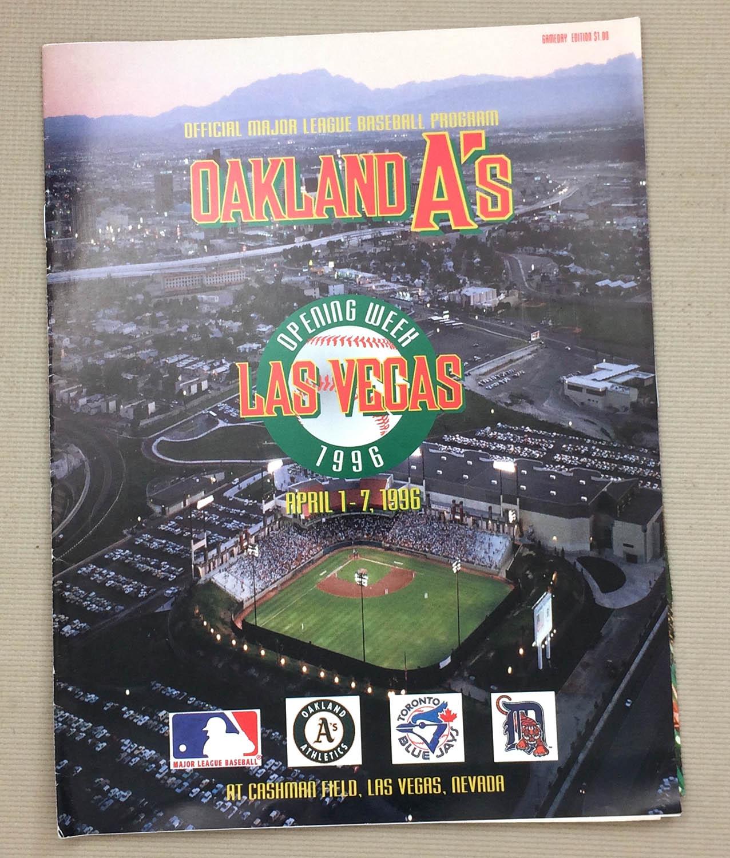 baseball-mlb-1996-oakland-athletics-las-vegas-program