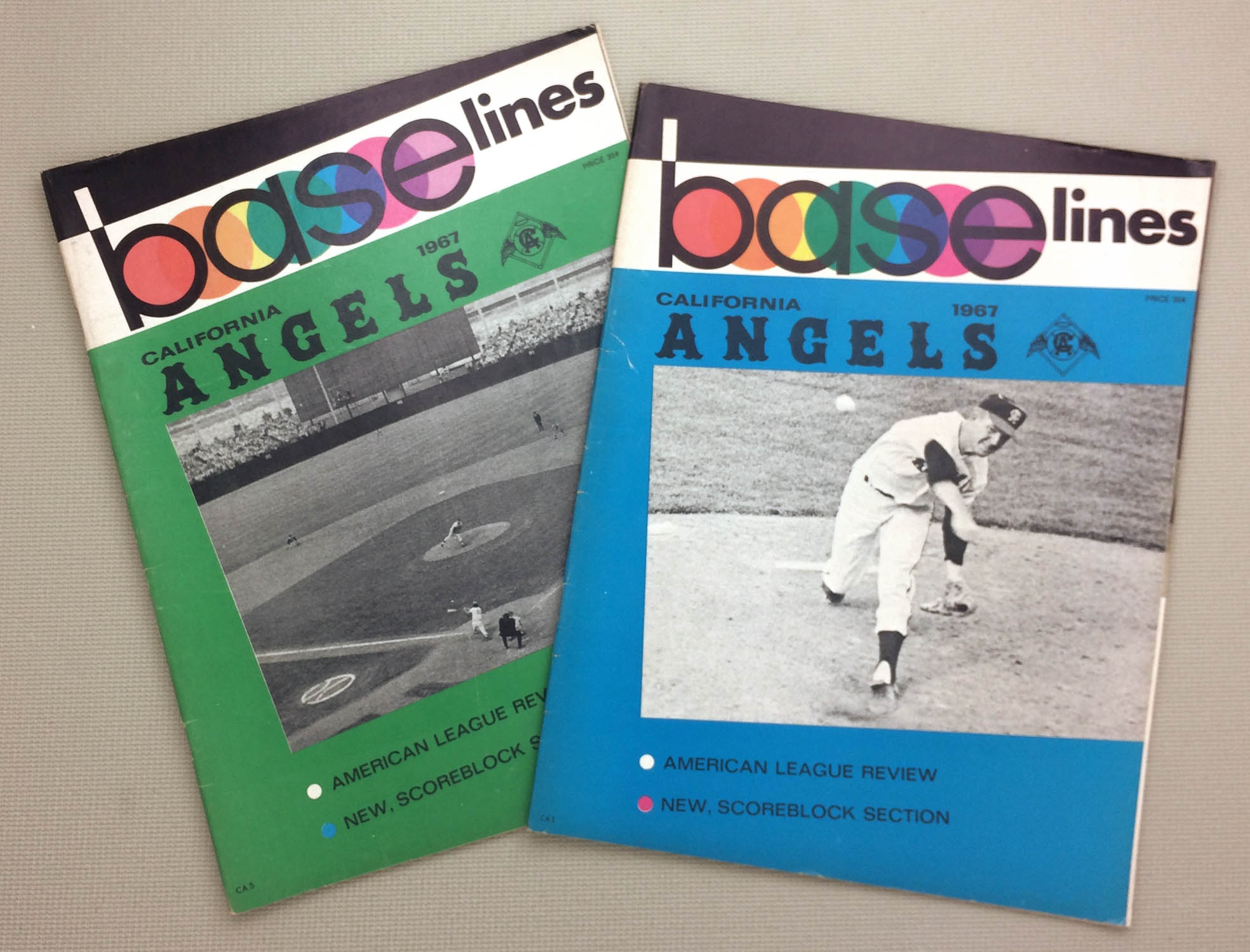 Angels 1967 Base-lines Programs
