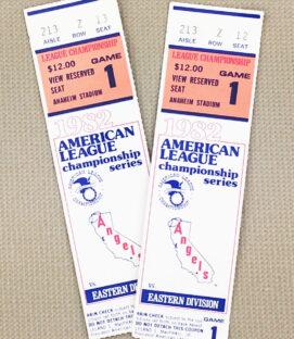 Angels 1982 ALCS Ticket Stubs