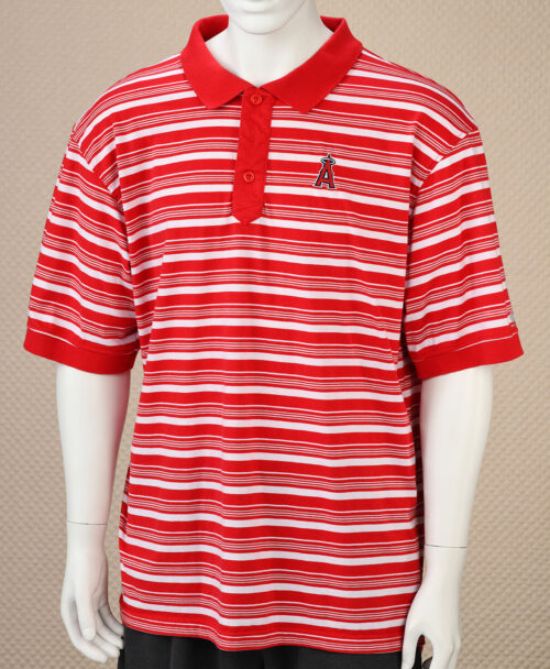 Los Angeles Angels Striped Polo Shirt