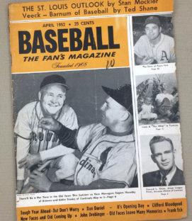 Baseball Magazine April 1952 Issue