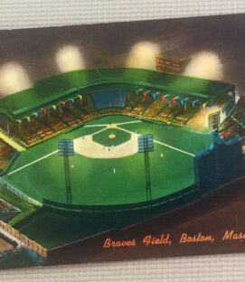 Vintage Braves Field Postcard B53