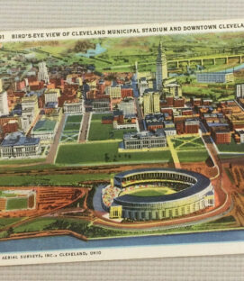 Vintage Cleveland Municipal Stadium Postcard