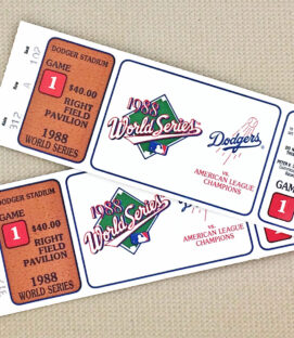 Dodgers World Series 1988 Tickets