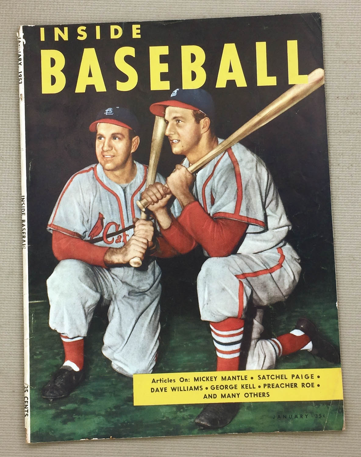 Inside baseball January 1953 Issue
